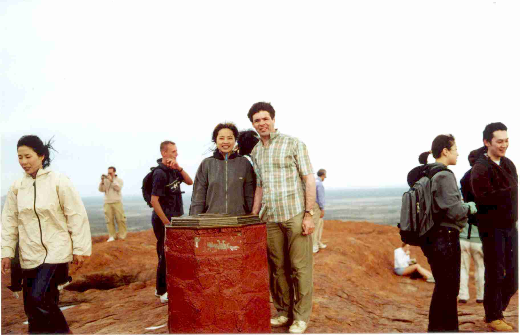 View at top of Ayers rock